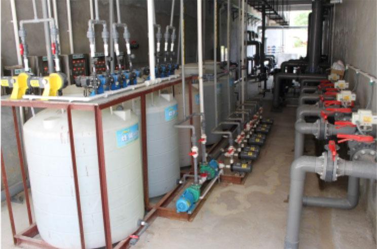 丰顺东达电子有限公司加药系统及中水回用预处理系统